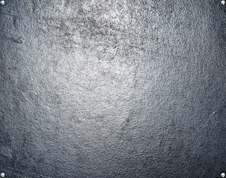 brushed: Metal plate steel background. Stock Photo