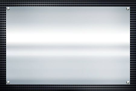 hard alloy: Metal plate steel background. Stock Photo