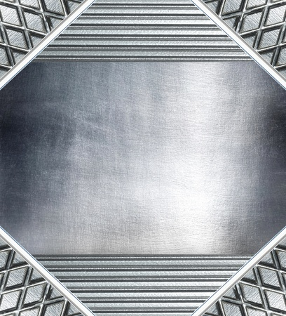 aluminum texture: Metal plate steel background. Stock Photo
