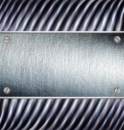 sleek: Metal plate steel background. Stock Photo