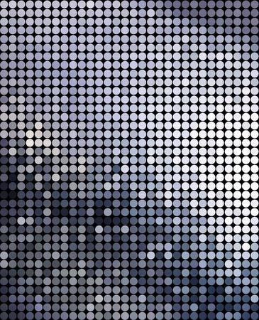 Geometric tech background. Stock Photo