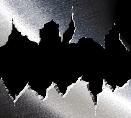 Torn metal texture. Stock Photo - 10720375
