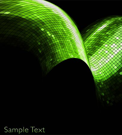 green geometric tech background