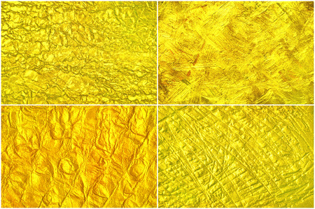 Set creative luxury golden texture.