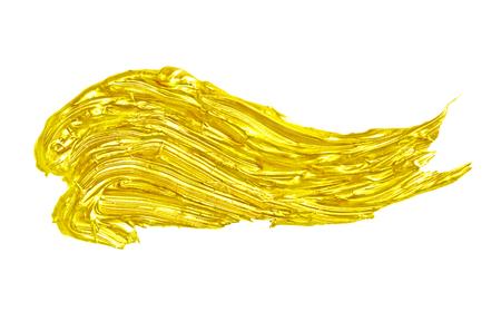 Kreativer goldener Abstrich auf dem weißen Hintergrund. Standard-Bild - 77653642