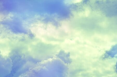 Paradise clouds background in the soft pastel colors. 写真素材