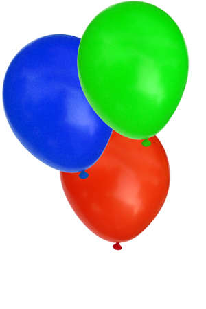 Bright party balloons isolated on white Stock Photo - 6006676