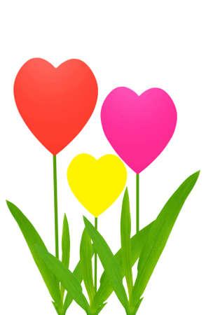 Spring heart tulips Stock Photo - 6166697