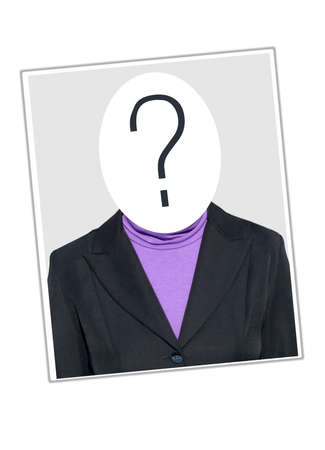 blanked: Unknown identity - woman with blanked out face