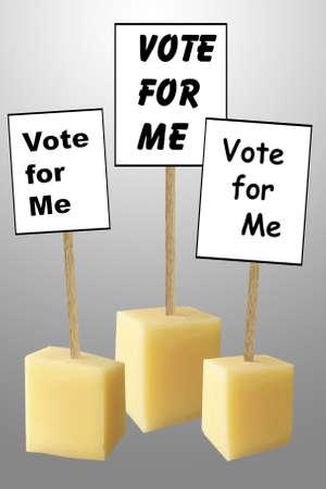 identical: Election - virtually identical candidates  Stock Photo