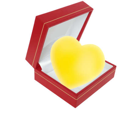 Heart of gold in presentation box Stock Photo - 6303927