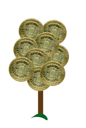 pound symbol: Money tree - pounds sterling