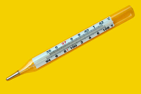 Thermometer showing healthy temperature Stock Photo - 7235521