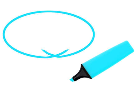 Highlighter with space for your message.  Isolated. Stock Photo - 7235517