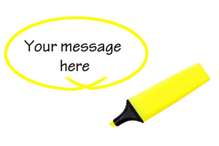 highlight: Highlight YOUR message here Stock Photo