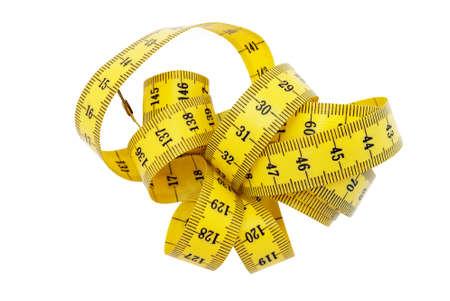 cintas metricas: Medida de cinta m�trica incluido  Foto de archivo