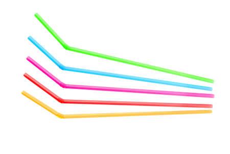 Bendy drinking straws - isolated on white. Stock Photo - 7757691