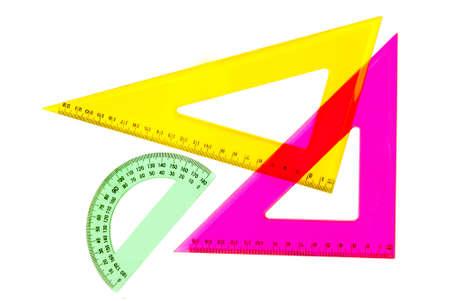 Escuela de dibujo o matem�ticas equipamiento t�cnico - pero bonito y brillante  Foto de archivo - 7757681