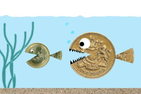 Pound chasing Euro photo