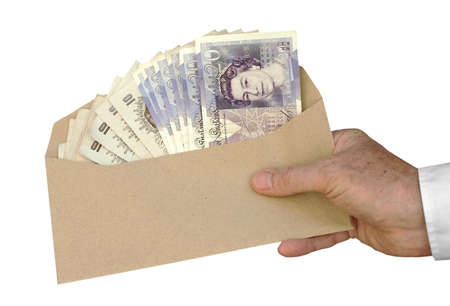 スターリング: 贈収賄と汚職 - 英ポンド 写真素材