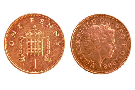 UK penny - isolated  Stock Photo