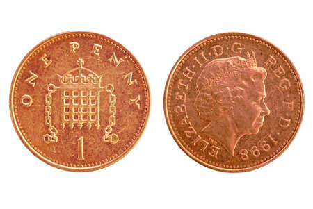 UK penny - isolated
