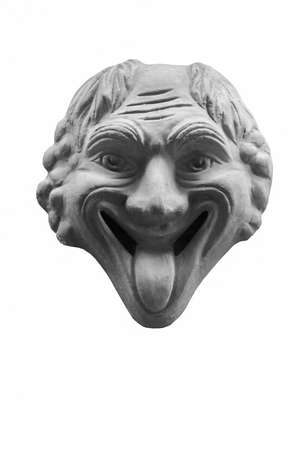 grotesque: Grotesque - happy but ugly face with tongue out