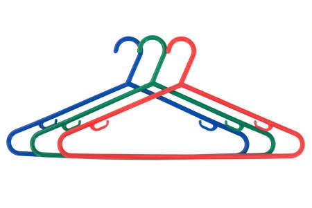 coathangers: Three coat hangers - isolated