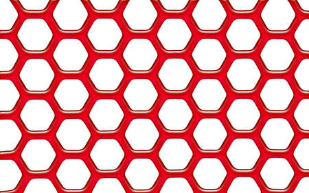 Red plastic net - on white background Stock Photo - 7985674