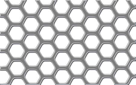 Shiny metal security grid Stock Photo - 7985680