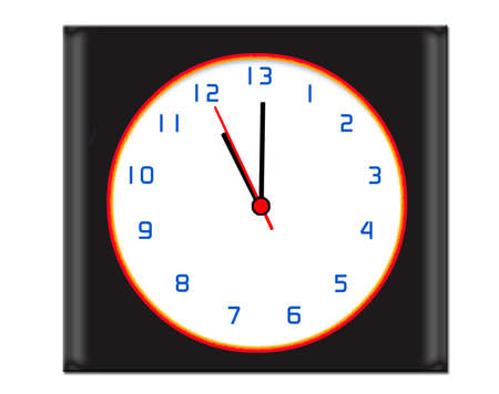 Clock with extra hours in the day - time concept Stock Photo - 8148531