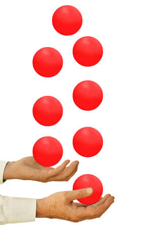 juggling: Businessman juggling - priorities, time management concept Stock Photo
