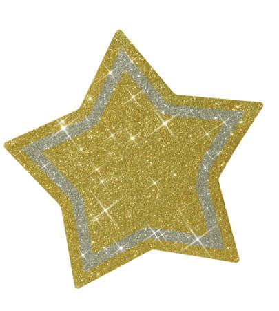glitzy: Sparkly Christmas star - isolated Stock Photo