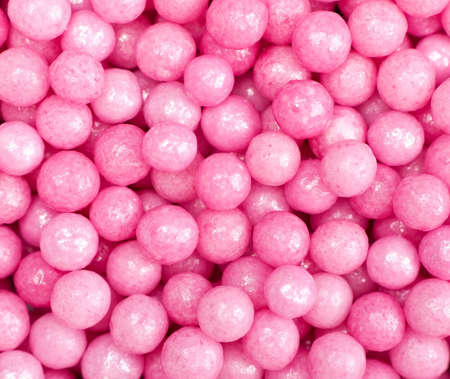 cake ball: Pink sugar candy balls