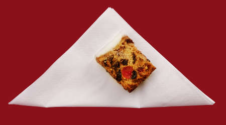 servilleta de papel: Pastel de boda de servilleta - rojo Foto de archivo