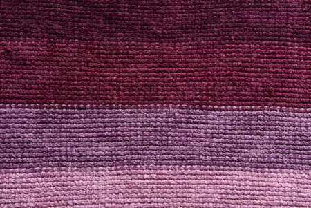 Knitted stripes fabric photo
