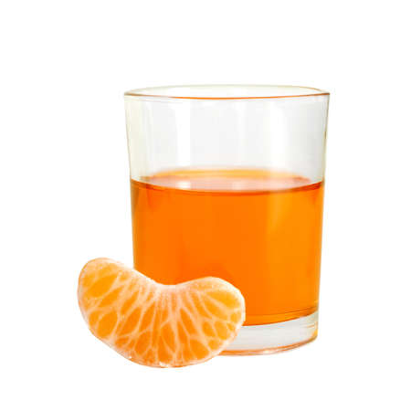 Orange liqueur drink with fruit segment photo