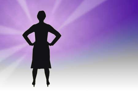 powe: Strong inspirational woman