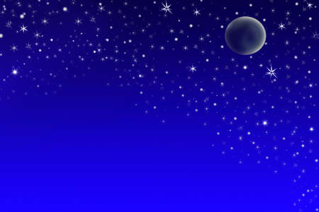 Night sky with stars and planet - background