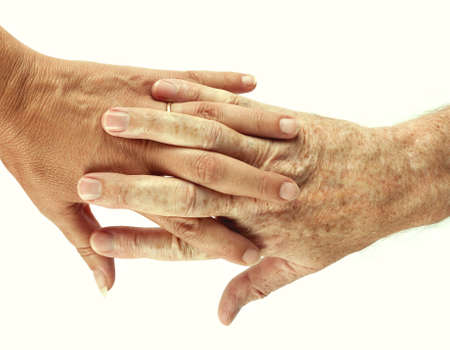 interlinked: Manos interrelacionadas, macho y felmale, colaboraci�n, apoyan met�fora Foto de archivo