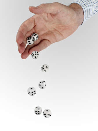 tumbling: Tumbling dice - luck, chance, gamble concept Stock Photo