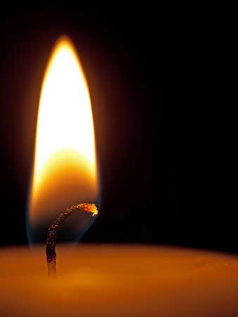 Candle detail - flame, macro photo