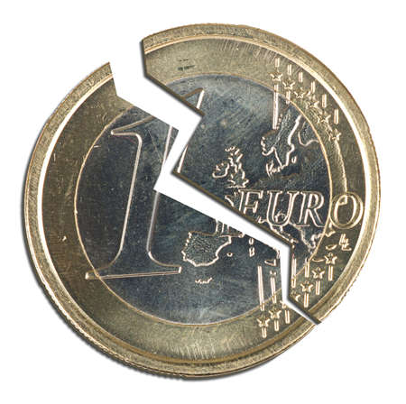 Broken Euro - finance and politics in Europe Stock Photo - 10919726