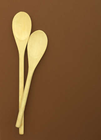 Wooden spoons background 写真素材