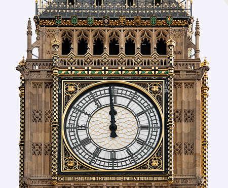 midday: High noon - Big Ben, London, midday, midnight
