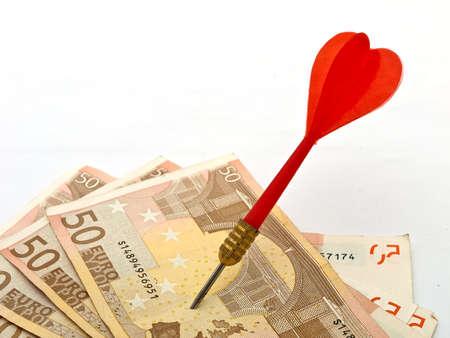 financial metaphor: Target Euros, financial metaphor