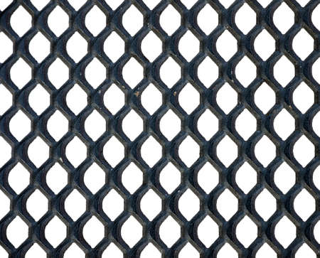 galvanised: Metal grid isolated over white background