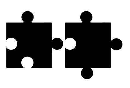 Jigsaw pieces - blank  photo