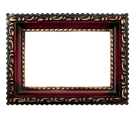 Ornate antique style picture frame, isolated over white Stock Photo - 15048855