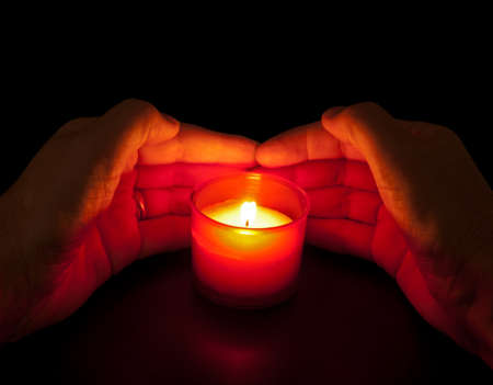 votive candle: Votive candle - All Saints Day, Day of the Dead, In Memoriam etc Stock Photo